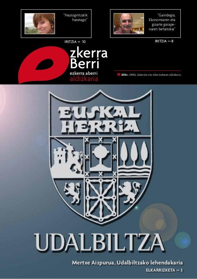 """""""Naziogintzatik haratago""""  IRITZIA >> 10  zkerra Berri  ezkerra aberri  aldizkaria  """"Gaindegia, Ekonomiaren eta gizarte ga..."""