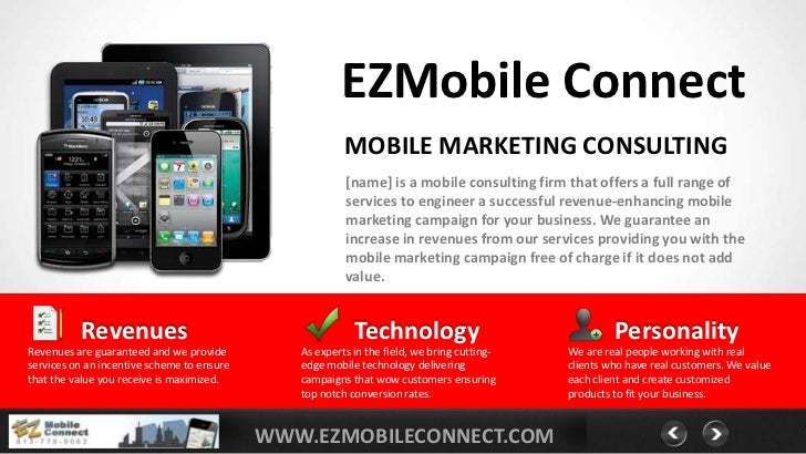 EZMobile Connect                                                        MOBILE MARKETING CONSULTING                       ...