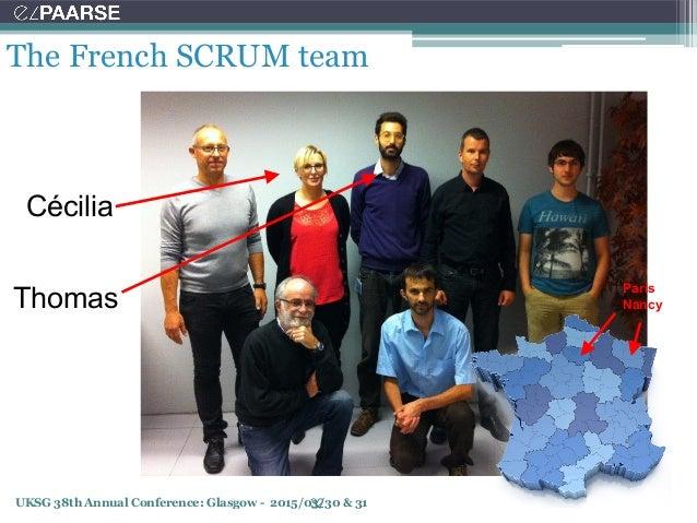 UKSG 38th Annual Conference: Glasgow - 2015/03/30 & 31 The French SCRUM team 32 Paris Nancy Cécilia Thomas