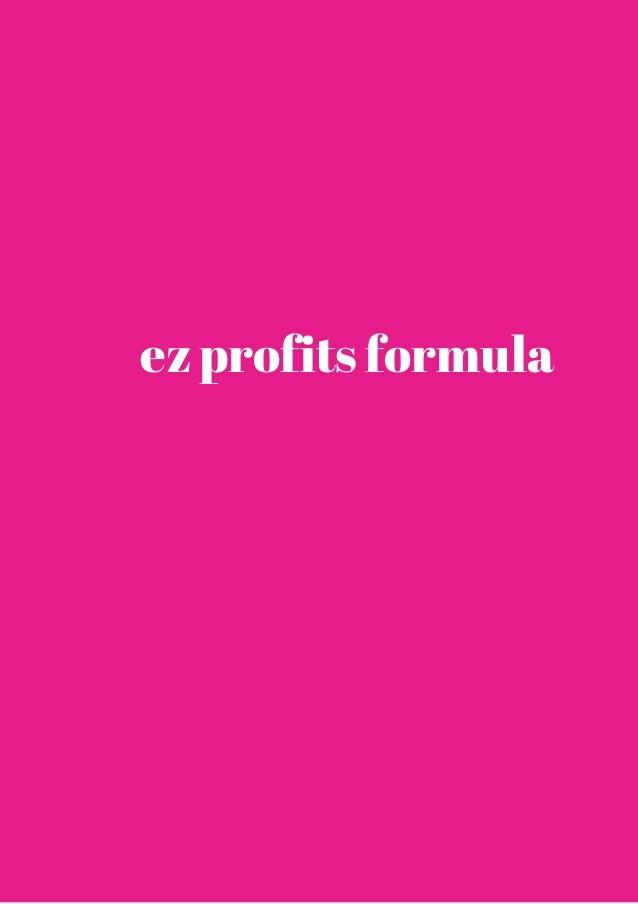 ez profits formula