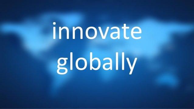 innovate globally