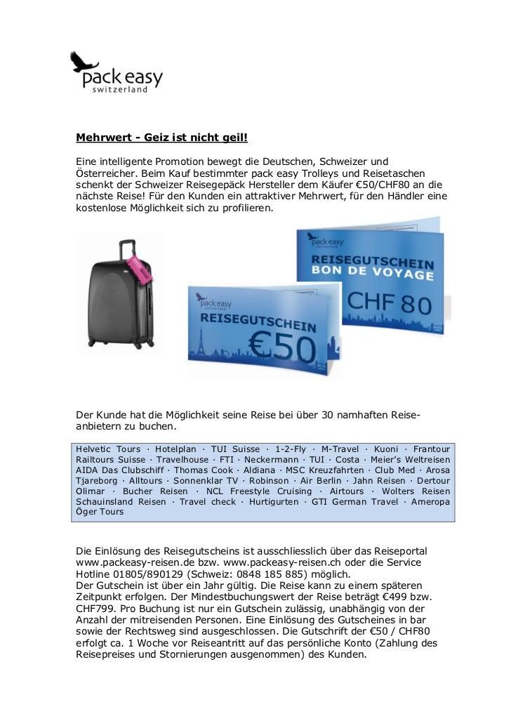Mehrwert - Geiz ist nicht geil!Eine intelligente Promotion bewegt die Deutschen, Schweizer undÖsterreicher. Beim Kauf best...