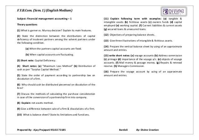 F y b com  account & statatistics theory  (for VNSG Uni , Surat)