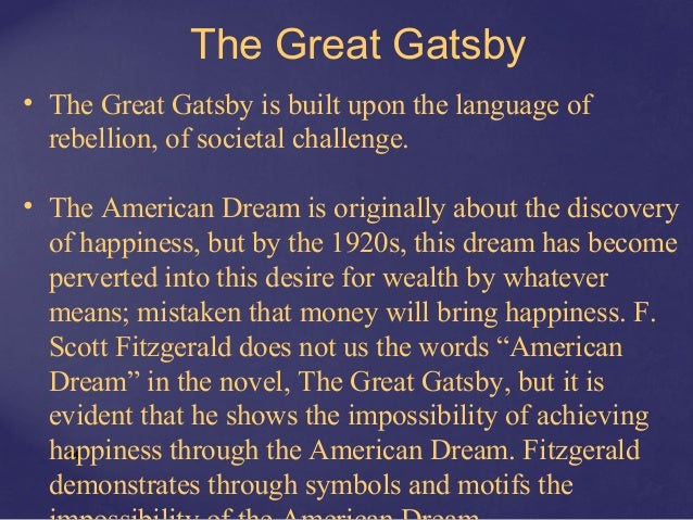Essays about the american dream great gatsby