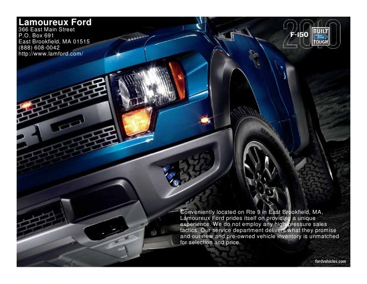 Lamoureux Ford 366 East Main Street P.O. Box 691                                                        F-150 East Brookfi...