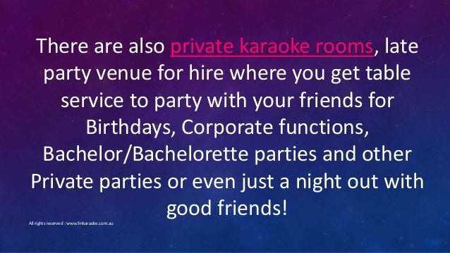 Late Night Private Karaoke Rooms