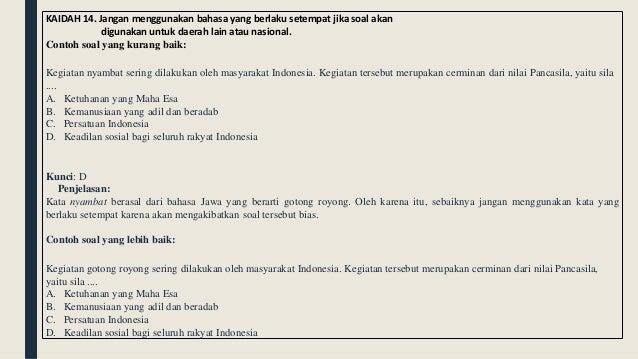 Penyusunan Soal Usbn Smp 2018
