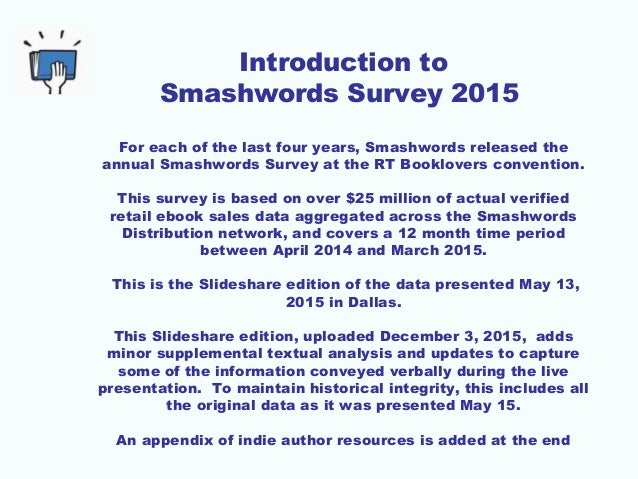 2015 smashwords survey how to sell more ebooks introduction fandeluxe Image collections