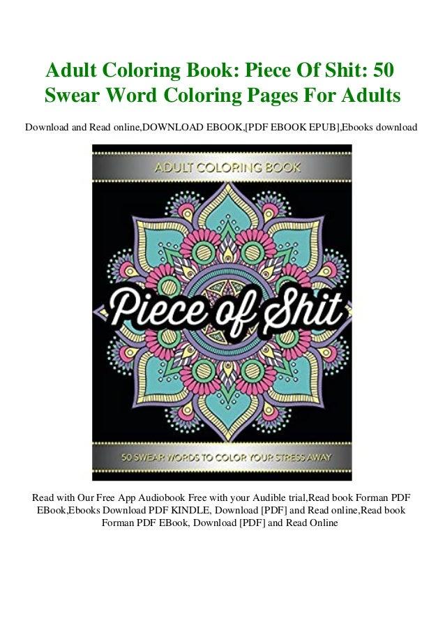 F.R.E.E] [D.O.W.N.L.O.A.D] [R.E.A.D] Adult Coloring Book Piece Of Sh…