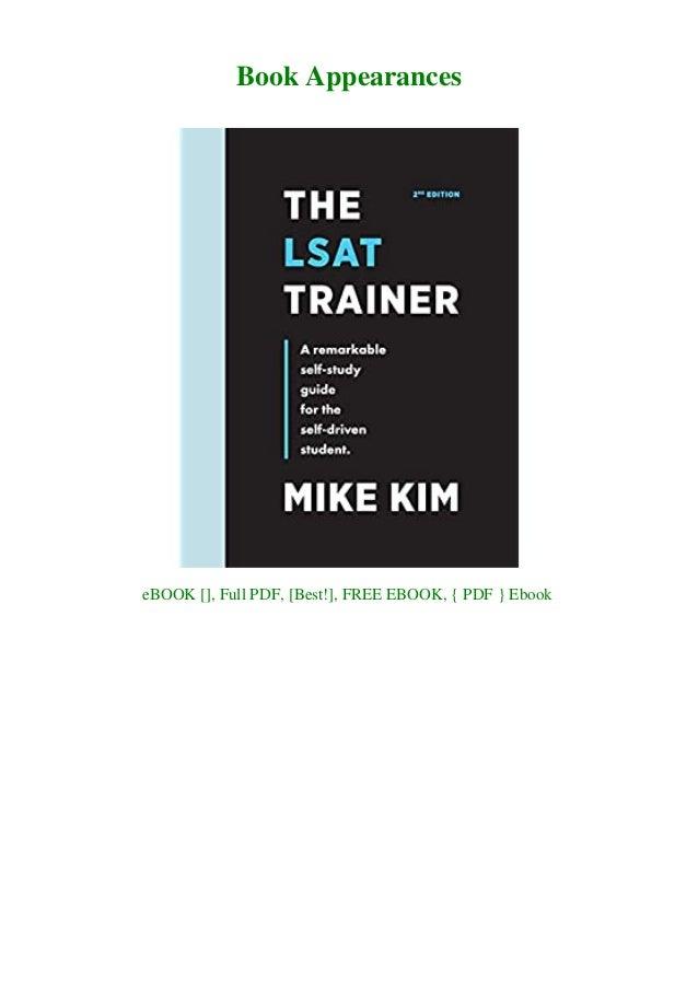 Trainer the free pdf lsat [ PDF]