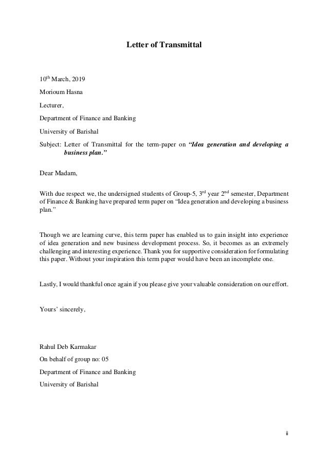 Term paper on business plan salary negotiable cover letter