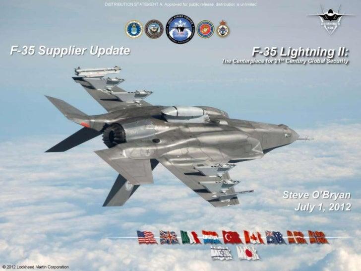 F 35 update July 1 2012
