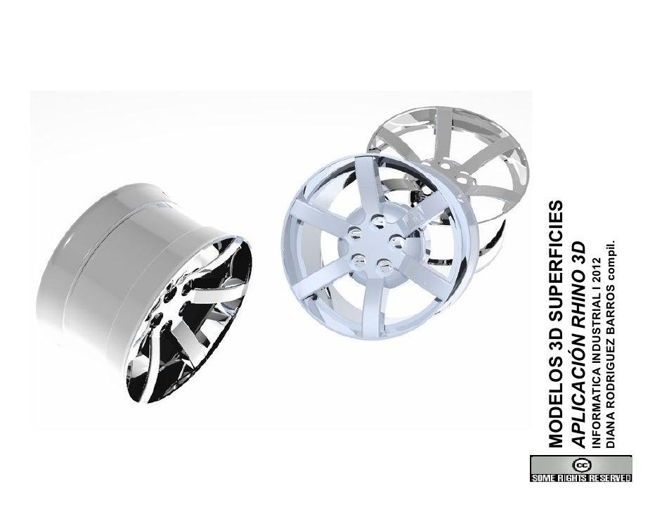 MODELOS 3D SUPERFICIESAPLICACIÓN RHINO 3DINFORMATICA INDUSTRIAL I 2012DIANA RODRIGUEZ BARROS compil.