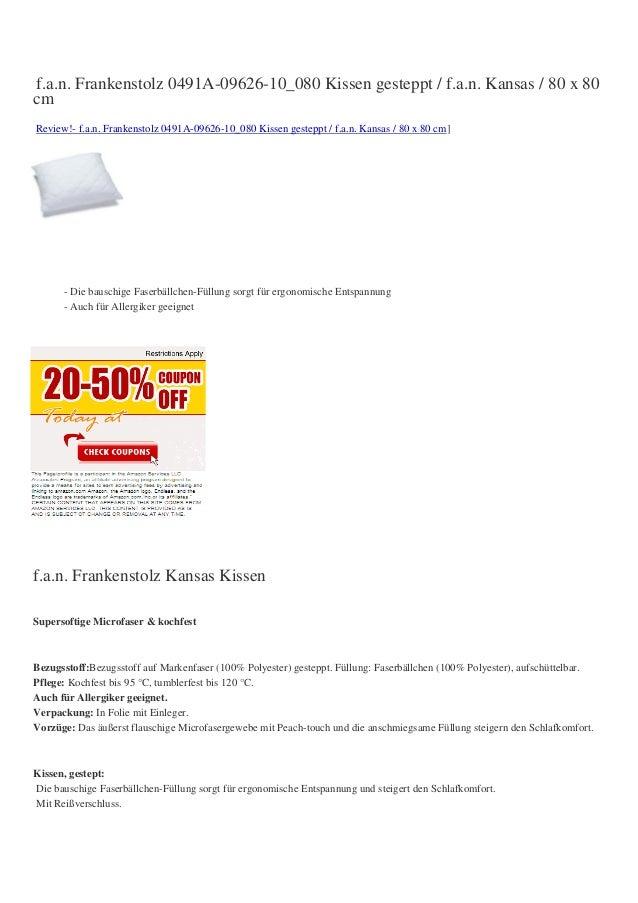 f.a.n. Frankenstolz 0491A-09626-10_080 Kissen gesteppt / f.a.n. Kansas / 80 x 80cmReview!- f.a.n. Frankenstolz 0491A-09626...