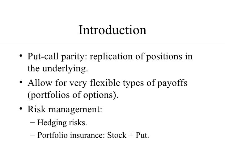 Put-call parity options trading