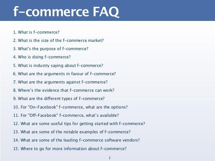 The F-Commerce FAQ Slide 2