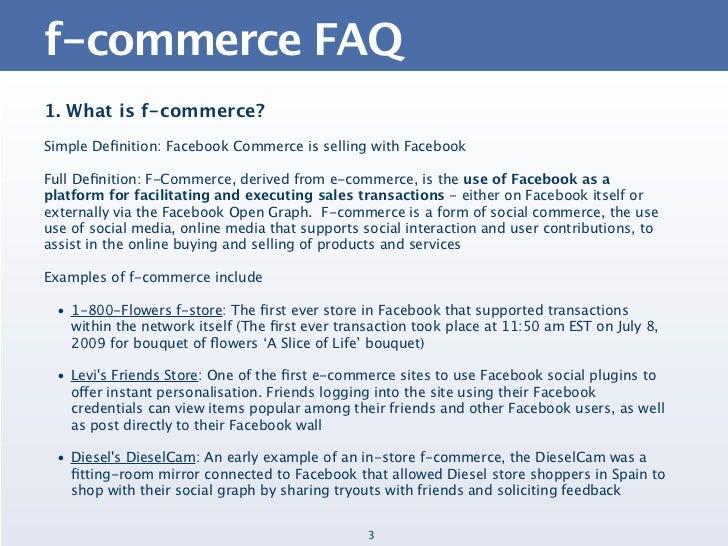 The F-Commerce FAQ Slide 3