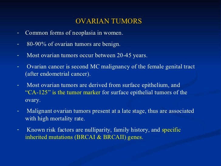 4) FIBROMA   Common ovarian tumours. Usually bilateral   Harmonally inactive   Meig's syndrome: fibroma with pleural   ...