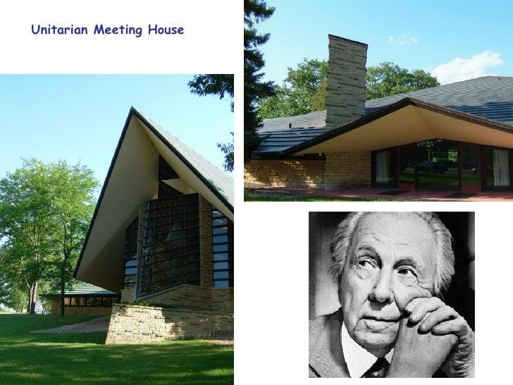 Característiques de l'arquitectura orgànica de F. Lloyd Wright  1. Integració de l'edifici en el medi ambient, creant un e...