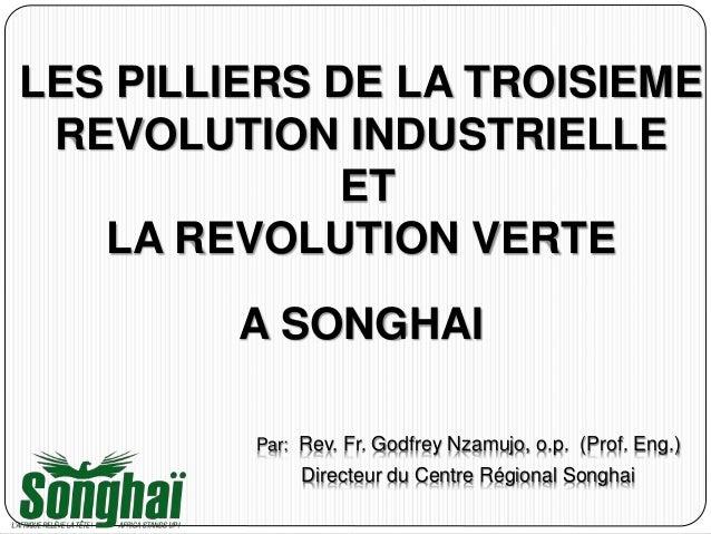 LES PILLIERS DE LA TROISIEME REVOLUTION INDUSTRIELLE ET LA REVOLUTION VERTE A SONGHAI Par: Rev. Fr. Godfrey Nzamujo, o.p. ...