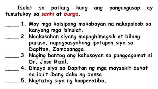 Free Worksheets number 14 worksheets : Filipino - Sanhi at Bunga