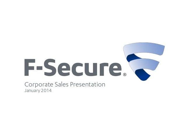 Corporate Sales Presentation January 2014