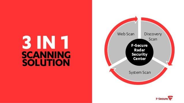 F secure Radar vulnerability scanning and management