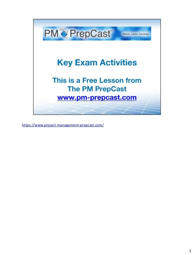 Key Activities For The Pmp Exam For Pmbok Guide 5th Edition