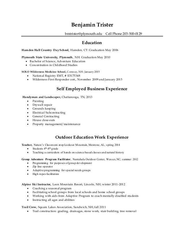 ben u0026 39 s resume 2