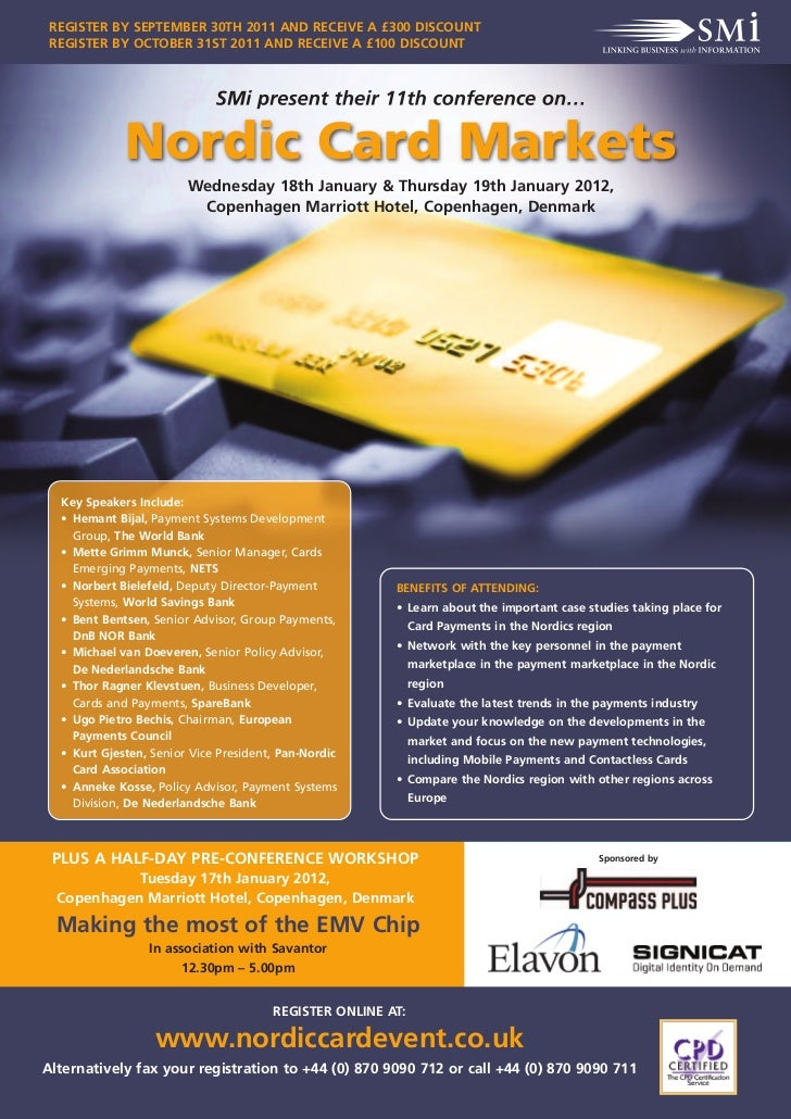 REGISTER BY SEPTEMBER 30TH 2011 AND RECEIVE A £300 DISCOUNT REGISTER BY OCTOBER 31ST 2011 AND RECEIVE A £100 DISCOUNT     ...