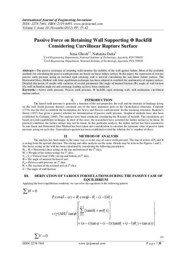 International Journal of Engineering InventionsISSN: 2278-7461, ISBN: 2319-6491, www.ijeijournal.comVolume 1, Issue 10 (No...