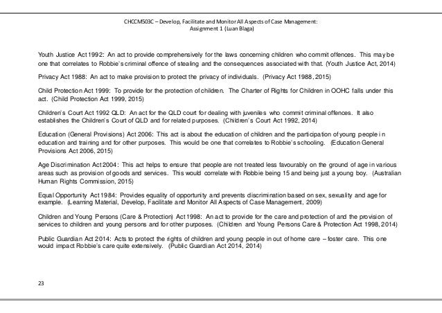 Case Management Assignment containing Case Plan