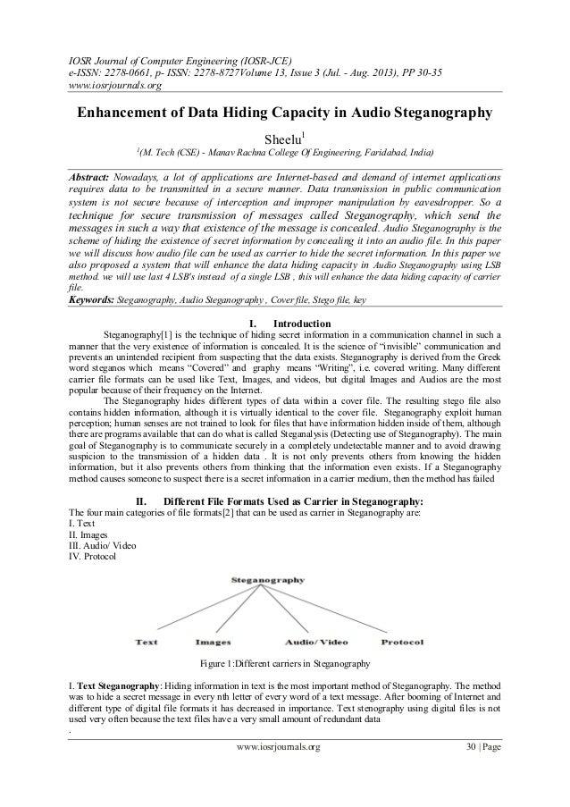 IOSR Journal of Computer Engineering (IOSR-JCE) e-ISSN: 2278-0661, p- ISSN: 2278-8727Volume 13, Issue 3 (Jul. - Aug. 2013)...