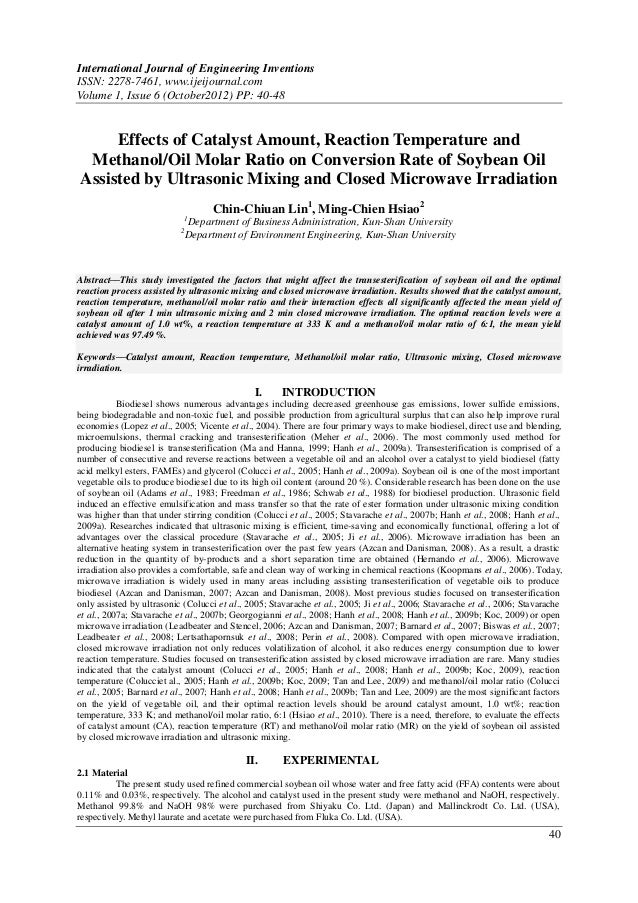 International Journal of Engineering InventionsISSN: 2278-7461, www.ijeijournal.comVolume 1, Issue 6 (October2012) PP: 40-...