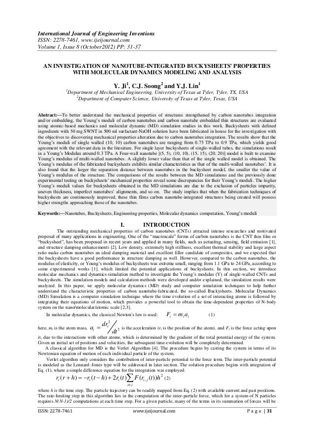 International Journal of Engineering InventionsISSN: 2278-7461, www.ijeijournal.comVolume 1, Issue 8 (October2012) PP: 31-...