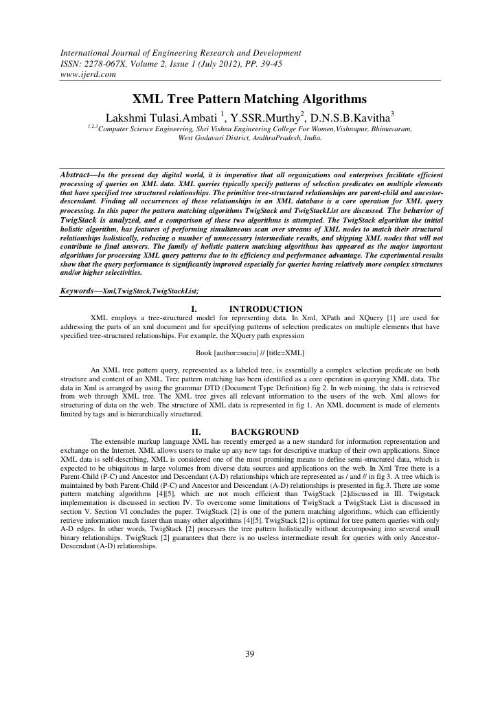 International Journal of Engineering Research and DevelopmentISSN: 2278-067X, Volume 2, Issue 1 (July 2012), PP. 39-45www....