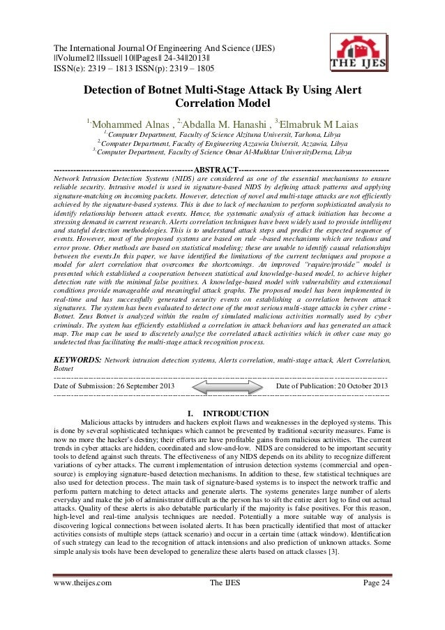 The International Journal Of Engineering And Science (IJES) ||Volume||2 ||Issue|| 10||Pages|| 24-34||2013|| ISSN(e): 2319 ...