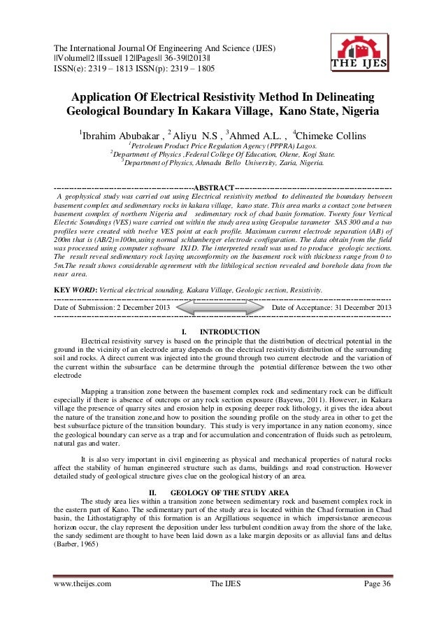The International Journal Of Engineering And Science (IJES) ||Volume||2 ||Issue|| 12||Pages|| 36-39||2013|| ISSN(e): 2319 ...