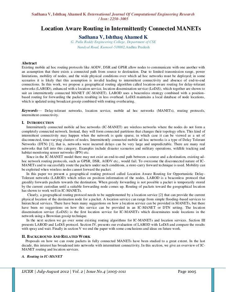 Sadhana V, Ishthaq Ahamed K /International Journal Of Computational Engineering Research                                  ...