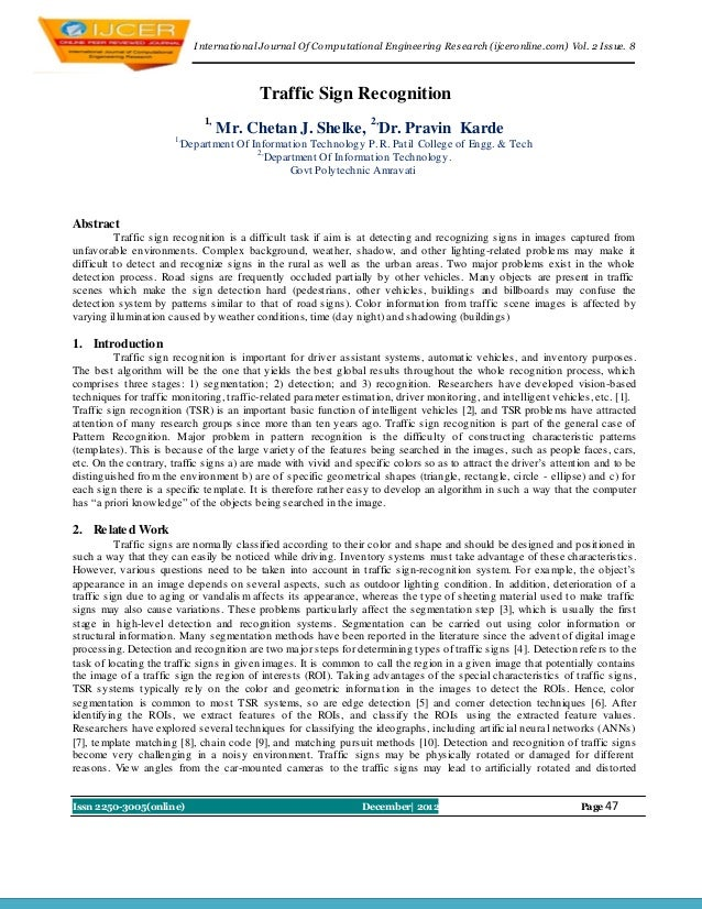 I nternational Journal Of Computational Engineering Research (ijceronline.com) Vol. 2 Issue. 8                            ...