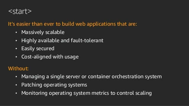 Building a web application without servers Slide 3