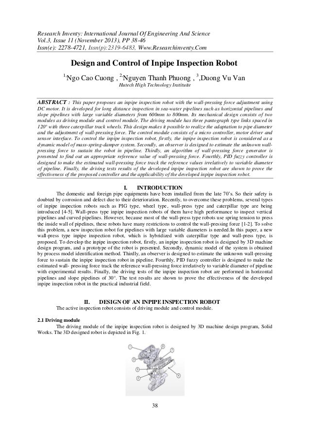 Research Inventy: International Journal Of Engineering And Science Vol.3, Issue 11 (November 2013), PP 38-46 Issn(e): 2278...
