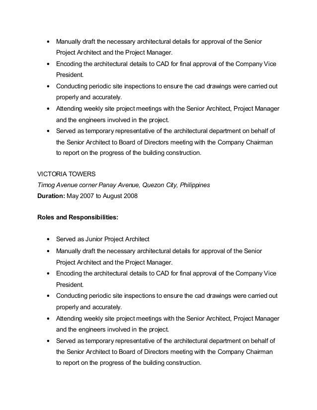 project architect 6. Resume Example. Resume CV Cover Letter