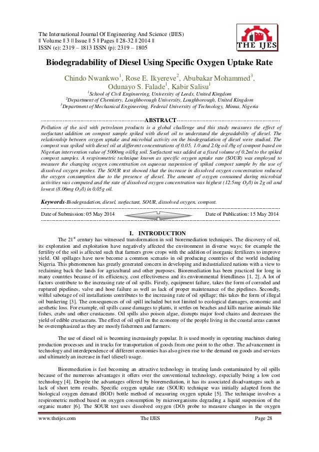 The International Journal Of Engineering And Science (IJES) || Volume || 3 || Issue || 5 || Pages || 28-32 || 2014 || ISSN...