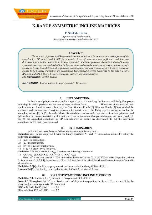 International Journal of Computational Engineering Research||Vol, 03||Issue, 6|| www.ijceronline.com ||June|2013|| Page 34...
