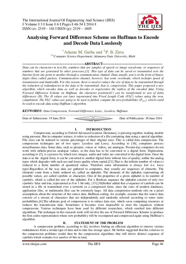 The International Journal Of Engineering And Science (IJES) || Volume || 3 || Issue || 6 || Pages || 46-54 || 2014 || ISSN...