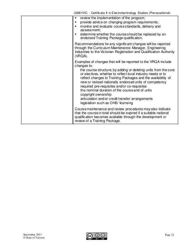 assessment guidelines electrotechnology training package