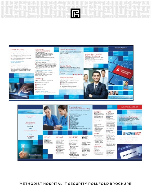 METHODIST HOSPITAL IT SECURITY ROLLFOLD BROCHURE THE WHO, WHAT, WHERE, WHEN, WHY, AND HOW OF PROTECTING SENSITIVE INFORMAT...