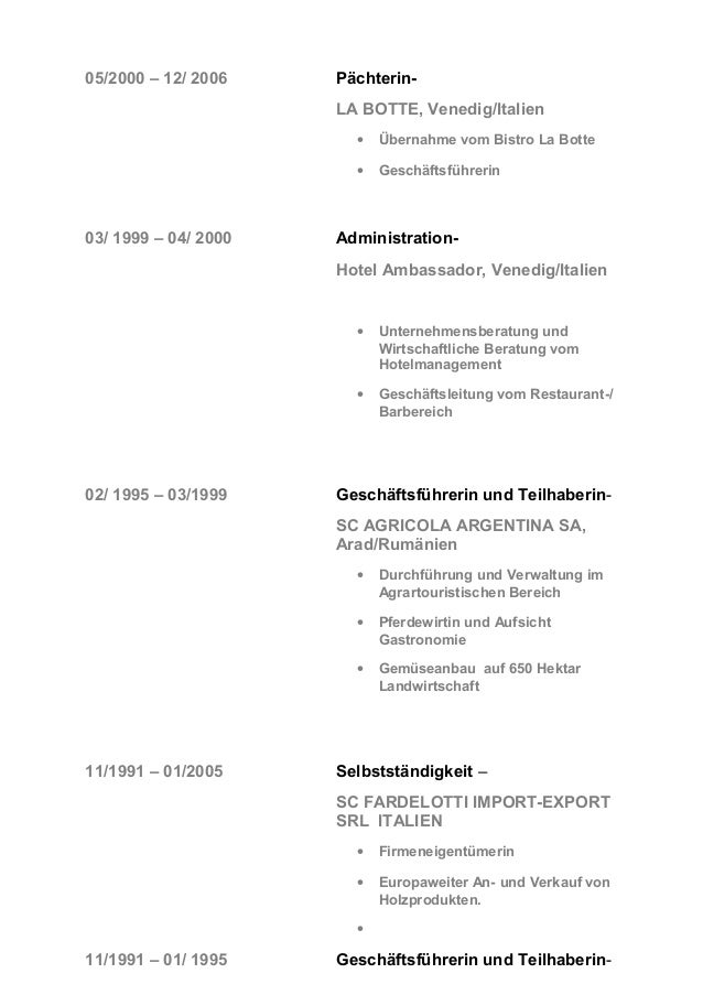 Beste Lebenslauf Hotelmanager Ideen - Entry Level Resume Vorlagen ...