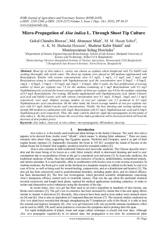 IOSR Journal of Agriculture and Veterinary Science (IOSR-JAVS) e-ISSN: 2319-2380, p-ISSN: 2319-2372. Volume 5, Issue 1 (Se...